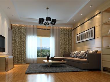 现代客厅吊顶效果图