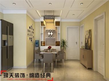 本案设计为现代简约风格,不规则的一体客餐厅。利用石