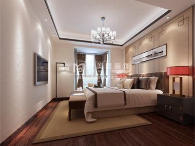 此方案为现代中式风格,整体温馨暖人的色调,让人舒服