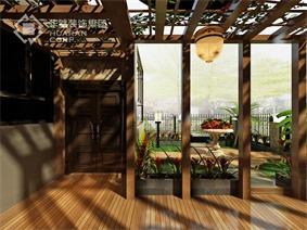 欧式花园吊顶效果图
