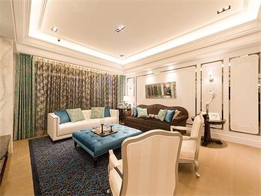370平混搭风格家装案例图客厅