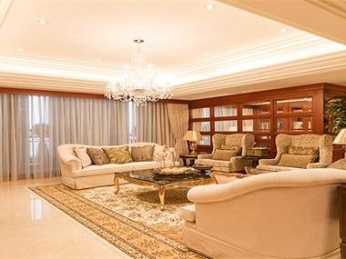 490平混搭风格家装案例图客厅