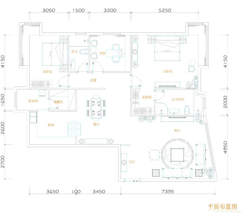 中式公寓平面设计图