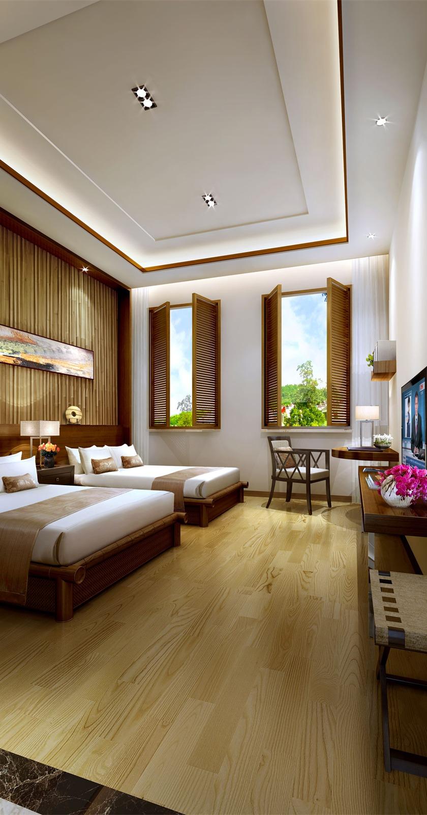 石塘竹海度假酒店卧室