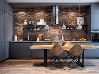 北欧厨房背景墙效果图
