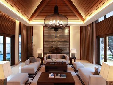 桂林水印长廊别墅客厅吊顶