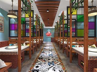 餐厅过道效果图