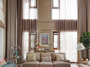 欧式客厅吊顶实景图