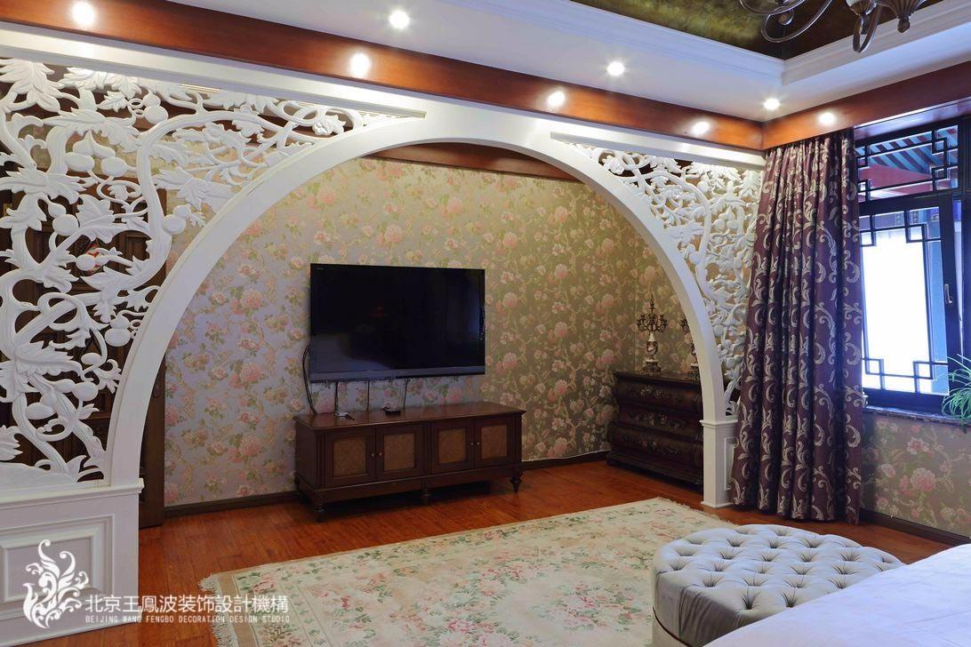 中式卧室隔断实景图