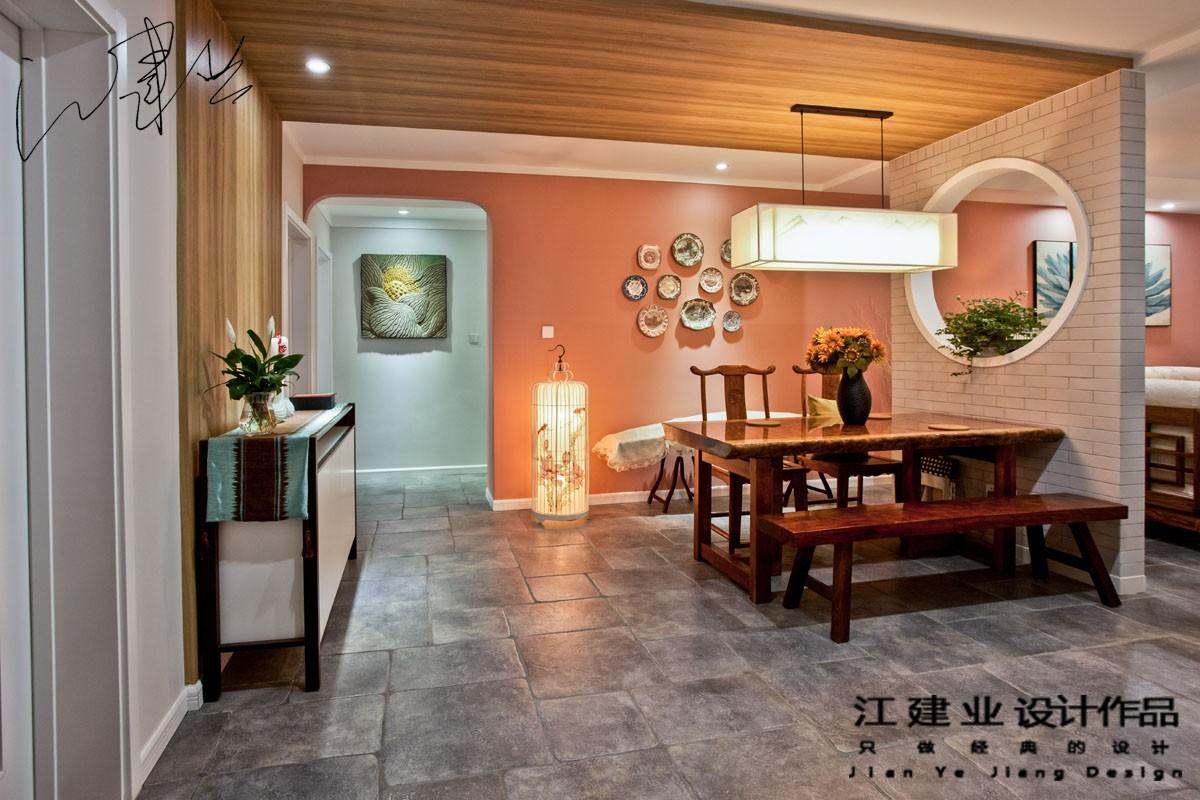 中式餐厅吊顶实景图