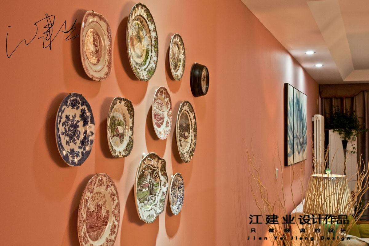 中式餐厅背景墙实景图