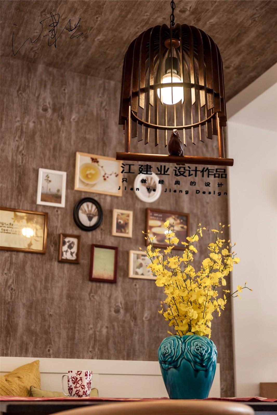 混搭餐厅背景墙实景图