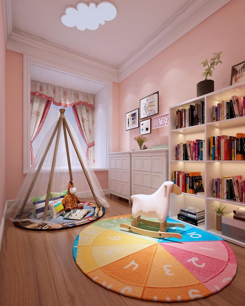 美式儿童房吊顶效果图