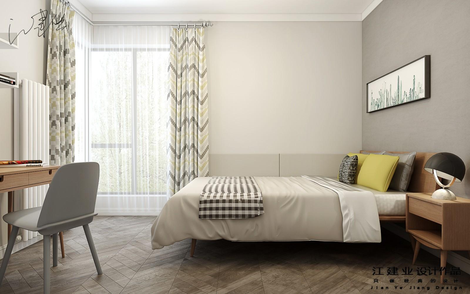 北欧卧室背景墙效果图