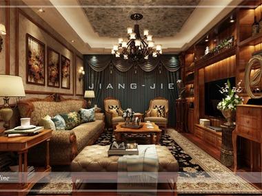 美式客廳吊頂效果圖