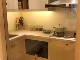 简欧厨房背景墙实景图
