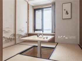 日式休闲区地台实景图