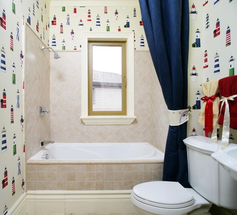 田园浴室背景墙效果图