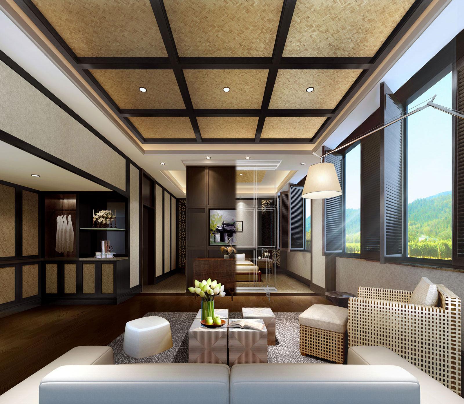 石塘竹海度假酒店休闲区