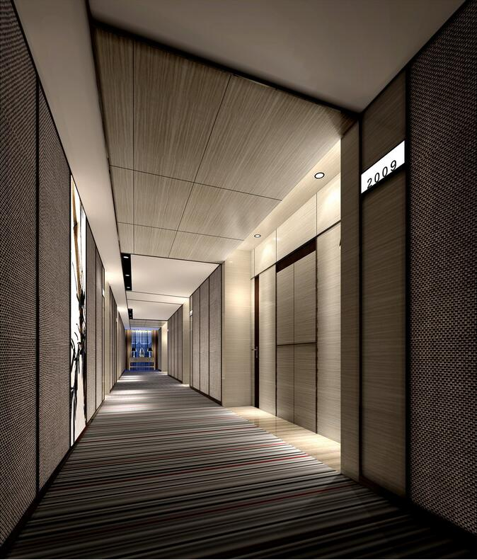 最佳西方财富酒店走廊
