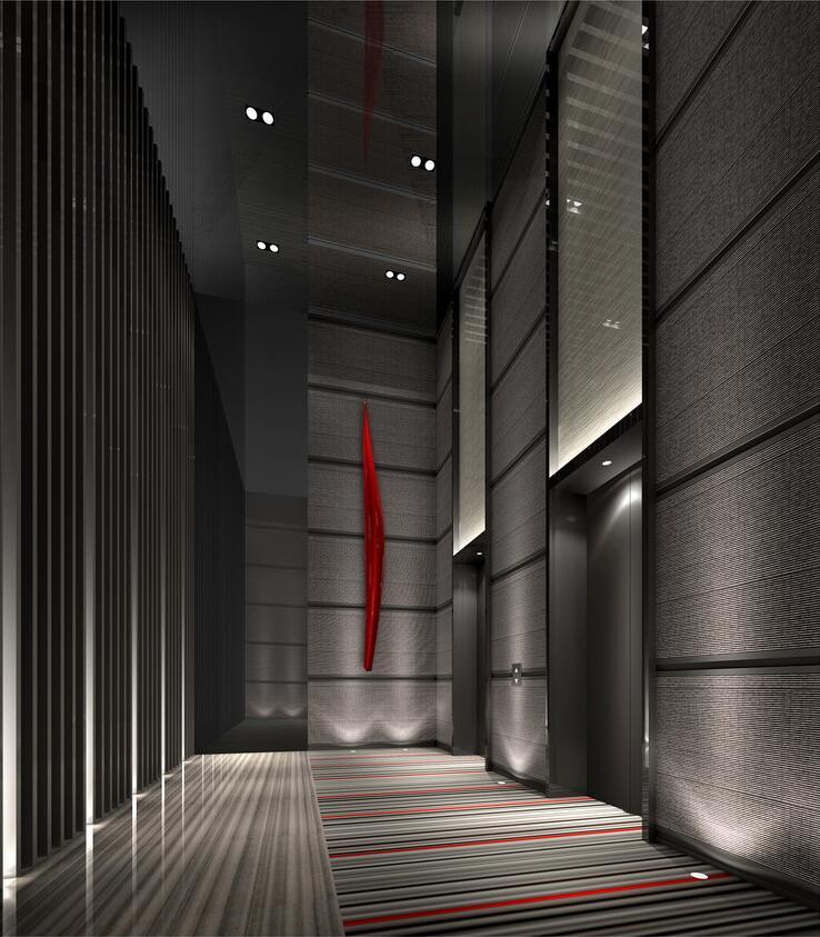最佳西方财富酒店电梯间