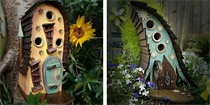手工打造的精美鸟屋 为花园添增一处亮点