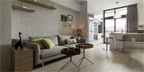 只有68平的小公寓 却利用层高设计成了3层小豪宅