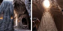 美雕塑家用十年纯手工雕刻出令人惊叹的巨大洞穴