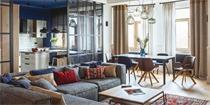 基辅160平混搭公寓设计 营造个性与魅力的空间氛围