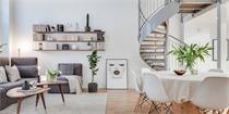 北欧54平米夹层公寓 丰富的装饰形成了精致的室内景观