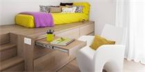 卧室这样装修设计 一个空间可以当做两个用