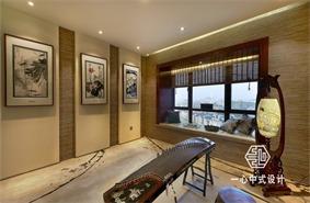 中式休闲区飘窗实景图