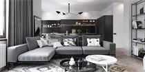 180平米公寓设计方案 精致北欧风融合利落时尚的现代风