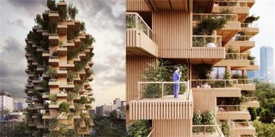 加拿大推出高层树塔建筑 打造城市里的垂直森林
