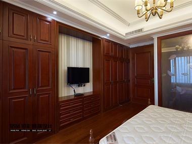 美式卧室电视背景墙效果图