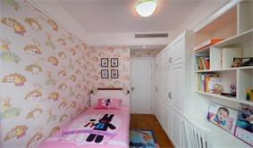 现代儿童房衣柜实景图