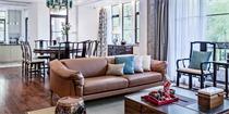 福州500㎡豪宅,用人文筑起一个拙朴形制而别具内涵的新中式空间