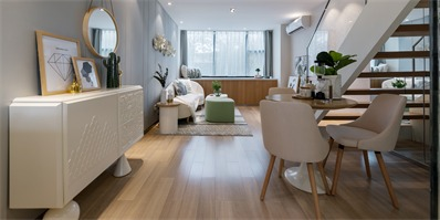 61㎡清新优雅的LOFT公寓设计