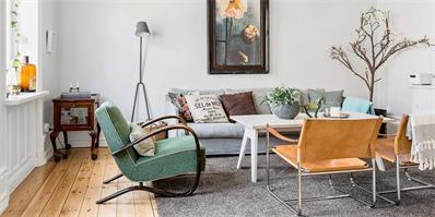 斯堪的纳维亚风格公寓设计 复古与现代共存的精致公寓