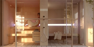 effegibi 完美spa空间 桑拿浴室无缝衔接