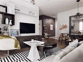 台?#34987;?#25645;风公寓 冷静朴实的舒适居所
