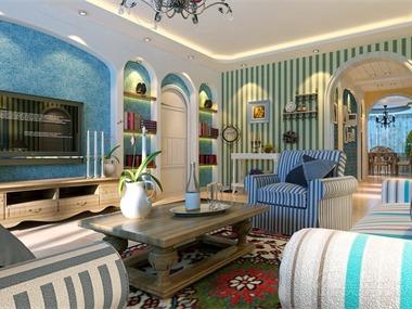 地中海风格极具亲和力田园风情及柔和的色调和组合搭配